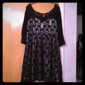 torrid Dresses - Torrid Lace/Silk Dress 1X